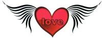 Smilendeal T2160 Wings Temp Body Tattoo - Black(Wings)