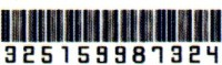 Smilendeal T1737 Removeable Temp Body Tattoo - Barcode Style(Barcode)