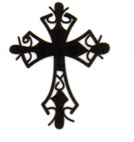 Smilendeal T1530 Removeable Temp Body Tattoo - Cross Style(Cross)