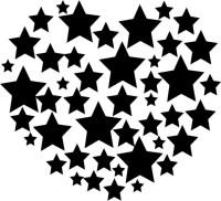 Smilendeal T1924 Star Heart Temp Body Tattoo(Star Heart)