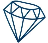 Smilendeal T1640 Removeable Temp Body Tattoo - Diamond Style(Diamond)