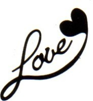 Smilendeal T1804 Removeable Temp Body Tattoo - Love Style(Love)
