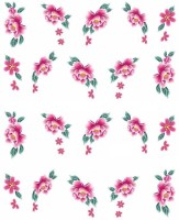 SENECIO� Pink Green Leaf Rose Temporary Nail Tattoo Pack(Flower) - Price 110 72 % Off