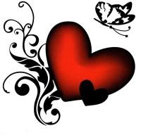 Smilendeal T1925 Heart Temp Body Tattoo(Heart)