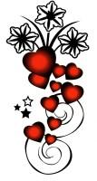 Smilendeal T1928 Hearts Temp Body Tattoo(Hearts)