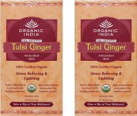 Organic India Tulsi Ginger 2 Packs Ginger MasalaTea(25 Sachets, Box)