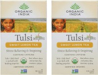 Organic India Tulsi Sweet Lemon 2 Packs Lemon Tea(18 Sachets, Box)