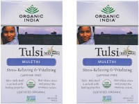 Organic India Tulsi Mulethi 2 Packs Tulsi Herbal Infusion(18 Sachets, Box)