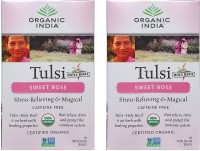 Organic India Tulsi Sweet Rose 2 Packs Tulsi Tea(18 Sachets, Box)