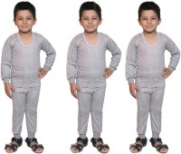 Bodysense Top - Pyjama Set For Boys(Grey)