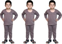 Bodysense Top - Pyjama Set For Boys(Brown)