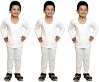 Bodysense Top - Pyjama Set For Boys(White)