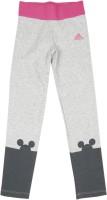 ADIDAS Printed Girls Grey Tights