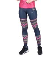 Yogue Printed Women Blue, Pink, White Tights