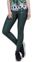 Yogue Printed Women Green Tights