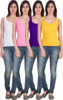 17.Hills Casual Sleeveless Solid Women's Multicolor Top(Size: S)