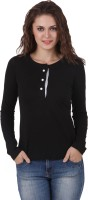 Texco Casual Full Sleeve Solid Womens Black, White Top