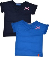 Clever Casual Cotton Blend Top(Dark Blue, Pack of 2)
