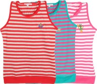 Eimoie Girls Casual Cotton Tank Top(Multicolor, Pack of 3)