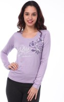 Espresso Casual Full Sleeve Printed Womens Blue Top