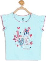 612 League Baby Girls Casual Cotton Blend Top(Blue, Pack of 1)