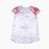 Buttercups Girls Casual Top(White, Pack of 1)