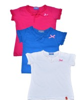 Clever Baby Girls Casual Cotton Top(Multicolor, Pack of 3)
