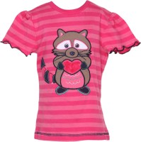 EverSaver Girls Casual Cotton Top(Pink, Pack of 1)