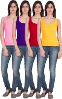 17.Hills Casual Sleeveless Solid Women's Multicolor Top(Size: XXL)