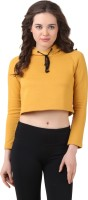 Texco Casual Full Sleeve Solid Womens Yellow Top