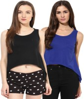 Espresso Casual Sleeveless Solid Womens Multicolor Top