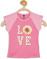 612 League Girls Casual Cotton Top(Pink, Pack of 1)