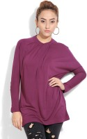 United Colors of Benetton. Casual Full Sleeve Solid Women's Purple Top