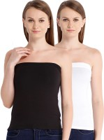 Espresso Casual Sleeveless Solid Women's Black, White Top