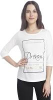 Vero Moda Casual 3/4th Sleeve Printed Women's White Top