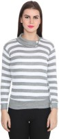 TeeMoods Casual Full Sleeve Striped Women's White, Grey Top