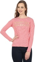 United Colors of Benetton Casual Full Sleeve Striped Womens Pink, White Top