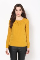 Harpa Casual Full Sleeve Solid Women's Yellow Top