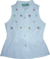 Eves Pret A Porter Girls Casual Cotton Top(White)