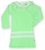 Dreamszone Girls Casual Cotton Full Sleeve Top(Light Green, Pack of 1)
