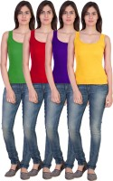 17.Hills Casual Sleeveless Solid Women's Multicolor Top(Size: M)
