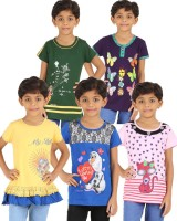 Meril Casual Cotton Layered Top(Multicolor, Pack of 5)