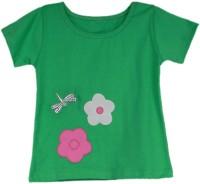 SSMITN Girls Casual Cotton Top(Green, Pack of 1)