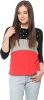 Vvoguish Printed Women's Round Neck Multicolor T-Shirt
