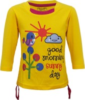 Kothari Girls Casual Cotton Top(Yellow, Pack of 1)