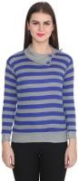 TeeMoods Casual Full Sleeve Striped Women's Blue, Grey Top