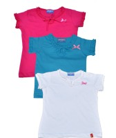 Clever Casual Cotton Top(Multicolor, Pack of 3)