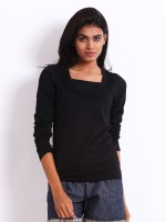 Espresso Casual Full Sleeve Solid Women's Black Top