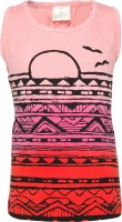 Joshua Tree Girls Casual Cotton Top(Pink Pack of 1)
