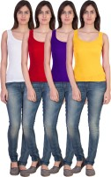 17.Hills Casual Sleeveless Solid Women's Multicolor Top(Size: XL)